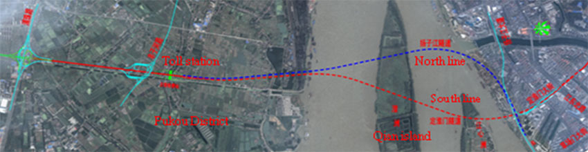 Fig 2. Alignment of the Nanjing Weisan Road Tunnel