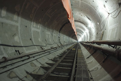 The completed 6.26m o.d. Zhanjiang Bay subsea tunnel will house twin water pipelines