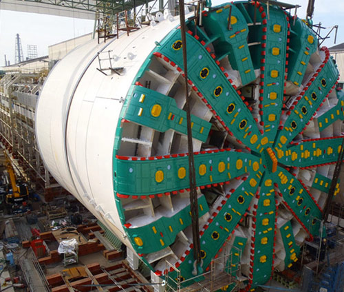 TBM Bertha has damaged bearing seals