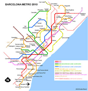 Barcelona Metro's orange Line 9