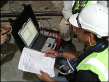 Site geologist at TSP work