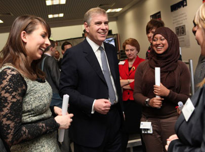 HRH Prince Andrew during visit to TUCA