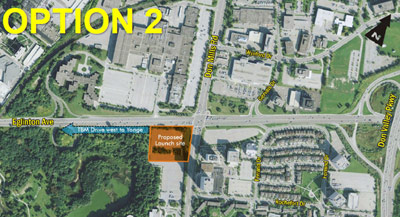 Launch site west of Don Mills selected