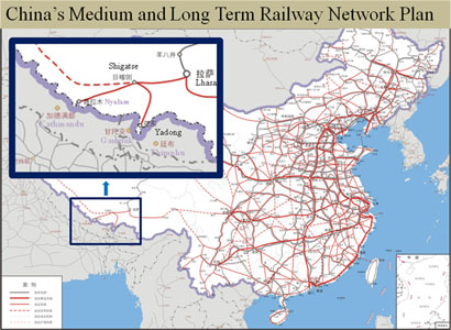 Fig 7. China's medium and long term railway plan