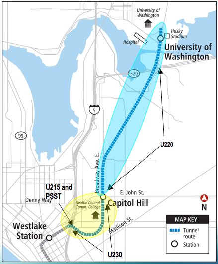 Fig 1. Seattle's U-Link tunnel contracts