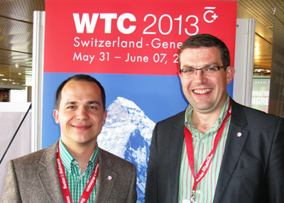UK delegates Petr Salak (left) and Damian McGirr proposed an ITA Young Members Group