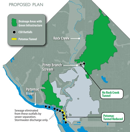 Amended plan eliminates 2.3km of CSO tunnels