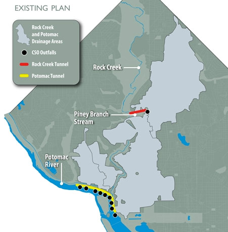 Existing plan for Rock Creek and Potomac