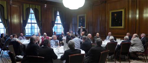 Group discussions after the James Clark Medal recipients lunch