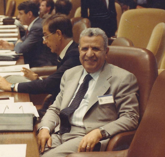 Mohamed Abdel Salam of Egypt, ITA Lifetime Achievement Award recipient, at the 1986 ITA General Assembly in Florence, Italy; on a visit to the Channel Tunnel construction works in 1995; and at the 1999 ITA Tunnel Congress in Cairo