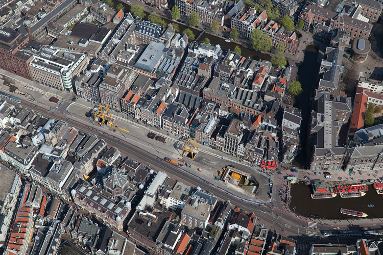 North-South metro construction under historic heart of Amsterdam