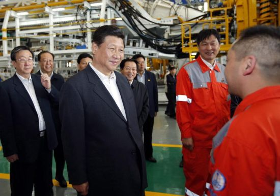 President Xi Jinping tours the CRTE TBM factory