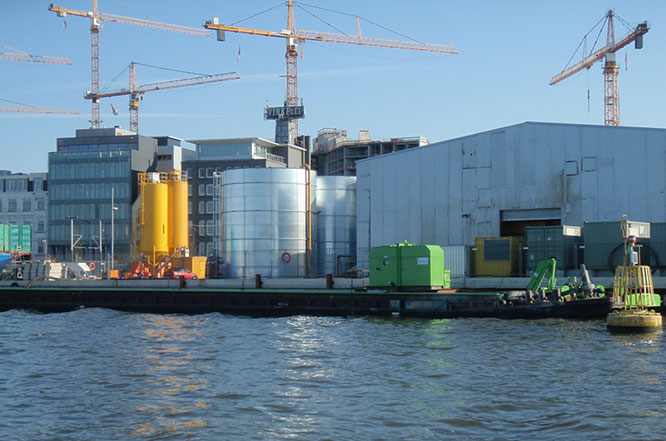 Slurry separation plant on the IJ River