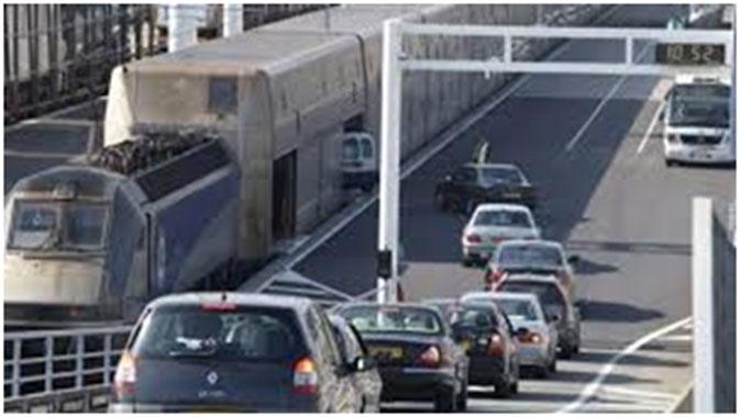 Eurotunnel car passenger Shuttle being loaded