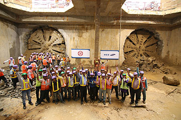 Double TBM breakthrough celebrations