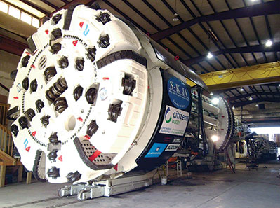 The 6.2m diameter rebuilt, record-setting Robbins TBM
