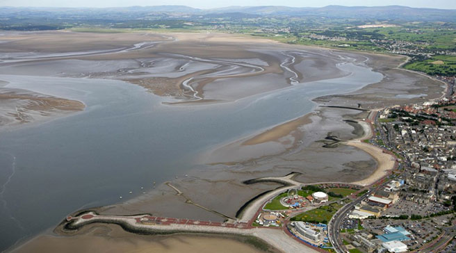 Morecambe Bay is 310km2