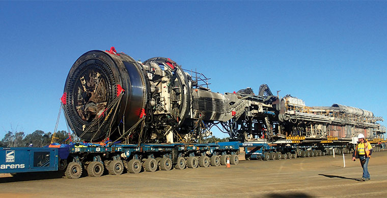 Robbins TBM minus outer shield – which was left in situ to support the end of the tunnel