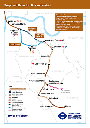 Bakerloo Line extension options