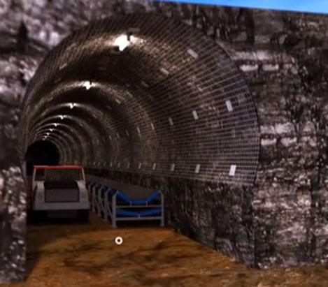 Flat invert TBM tunnel profile
