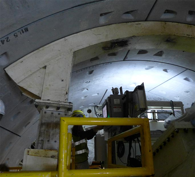 Specified ring former on TBM