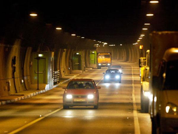 Interior of the Lefortovo TBM bored tunnel