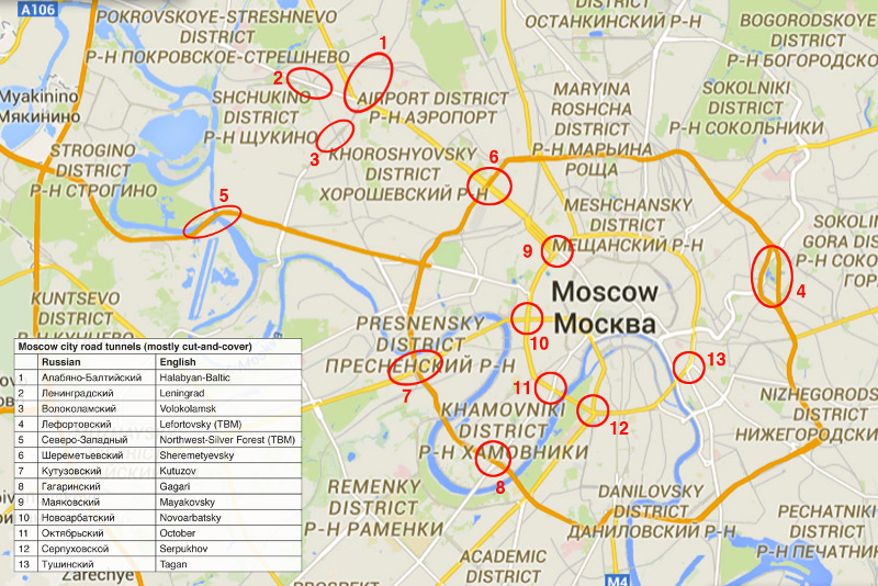 """Location of the Halabvan-Baltic Tunnel and other cut-and-cover and bored highway tunnels in the Moscow city region"""" style=""""height:273px;"""