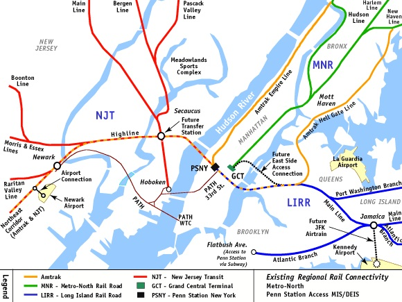 Manhattan tunnel connections and services