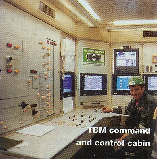 TBM command and control cabin