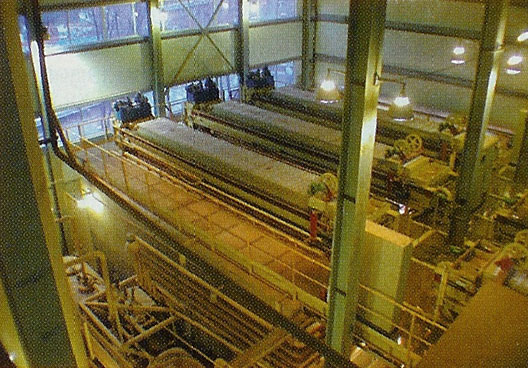 The six filter presses of the largest slurry separation plant in the world