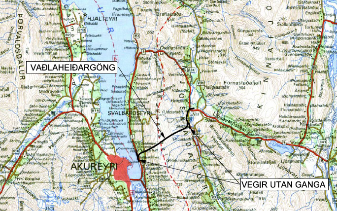 Location map of Vadlaheidi road tunnel project