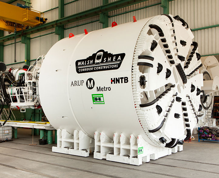 Herrenknecht TBM for the Crenshaw/LAX Line
