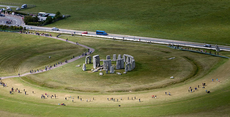 Protestors want a longer tunnel at Stonehenge