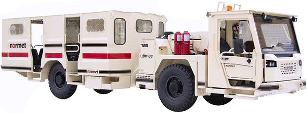 Utimec MF328 personnel carrier with open cabin