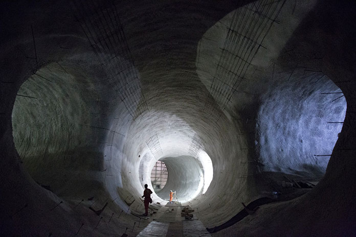 Platform tunnels at the new Crossrail Bond Street Station