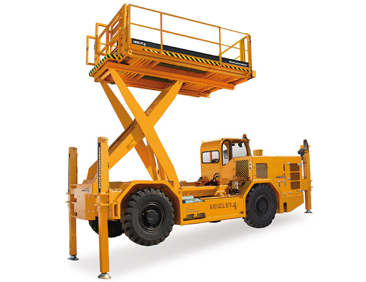 The Minelift 4 scissor lift platform