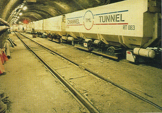 Supplying rolling stock to both the French and the UK sides of the Channel Tunnel project