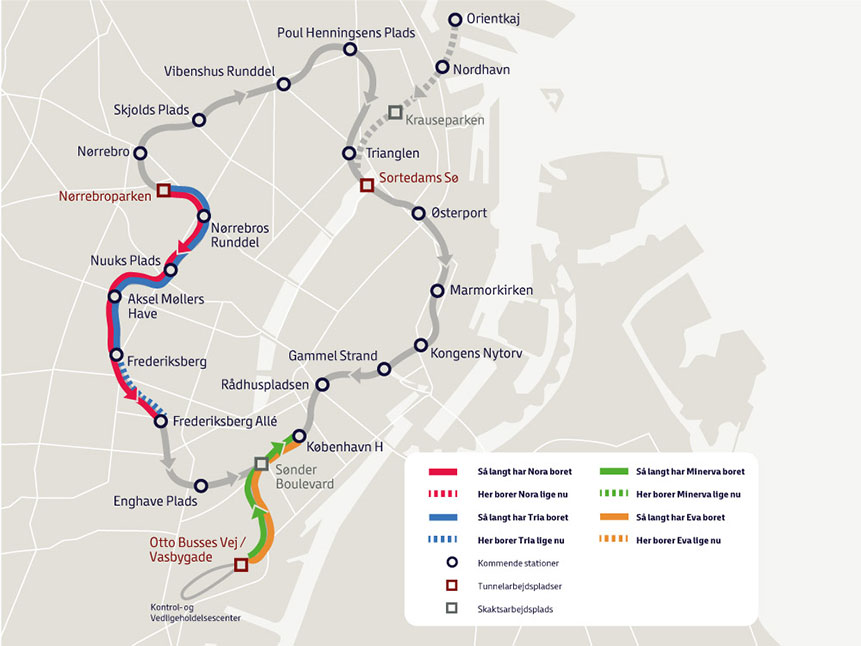 Fig 2. Cityringen TBM progress (29 January 2015)