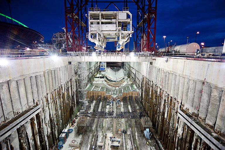 Seattle Alaskan Way TBM launch pit