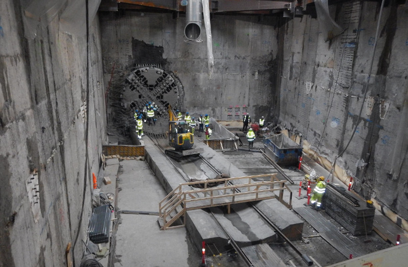 Sønder Boulevard following TBM breakthrough (Nov 2014)