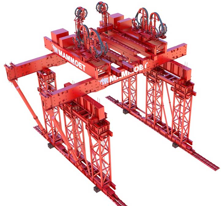 Design of the 32m high gantry