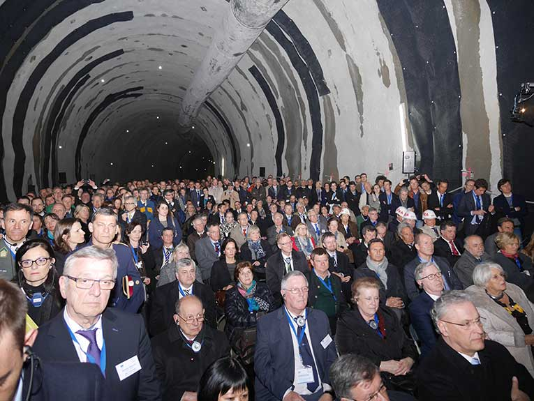 Delegation at the Ahrental Tunnel ground breaking ceremony