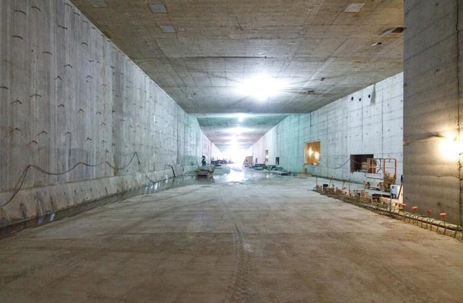 "TBM downtime has enabled work on internal tunnel structures"" style=""height:260px;"