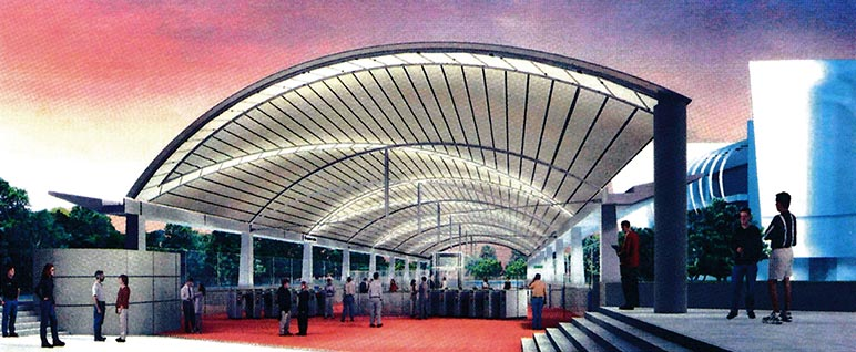 Artist's impression of the canopied Esplanade Station