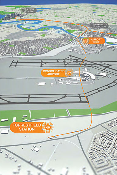 """Fig 1. 8.5km Perth Airport rail link"""" style=""""width:270px;height:350px;"""