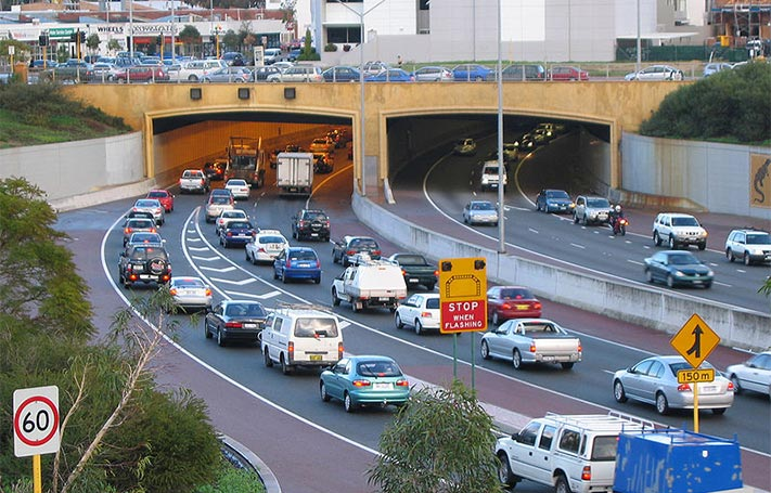 Portal to the Polly Farmer bypass highway tunnel under Northbridge