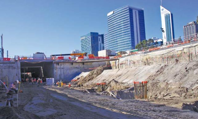 Relocation of the Fremantle railway line underground