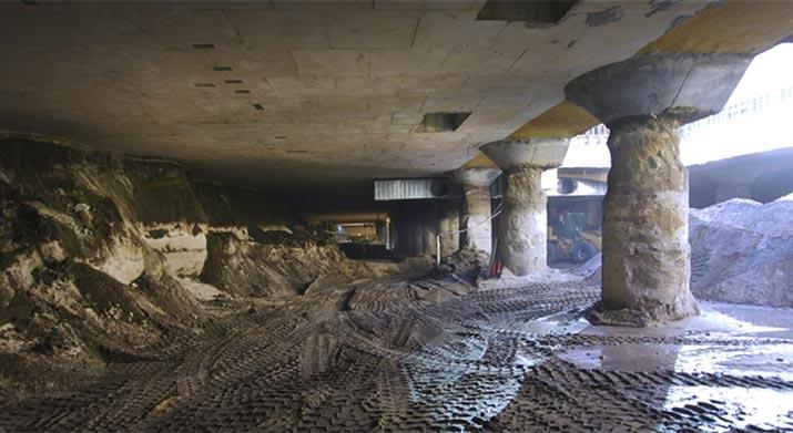 Core excavation of the new underground Busport