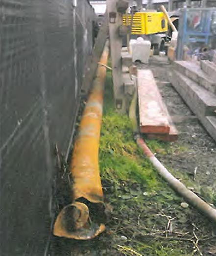 Part of the steel well casing that comprised TW-2