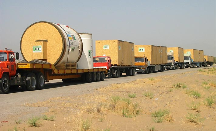 Convoy delivery of the TBMs' style=